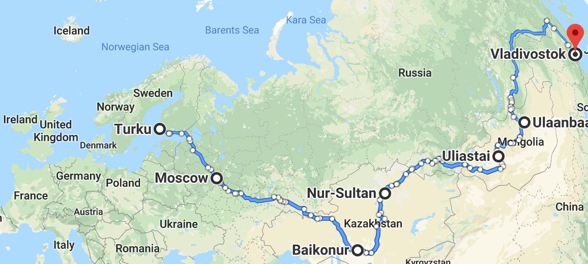 Turku – Vladivostok